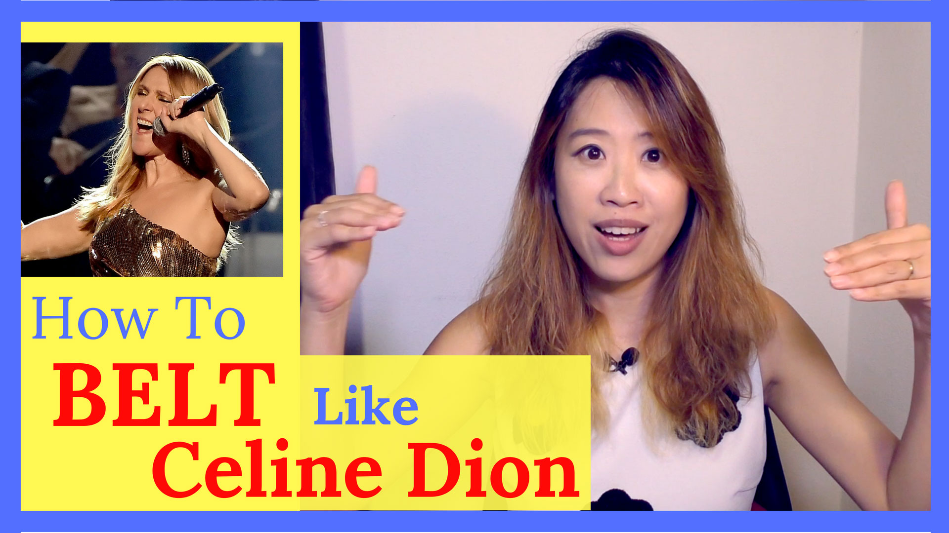 How to belt high notes like Celine Dion