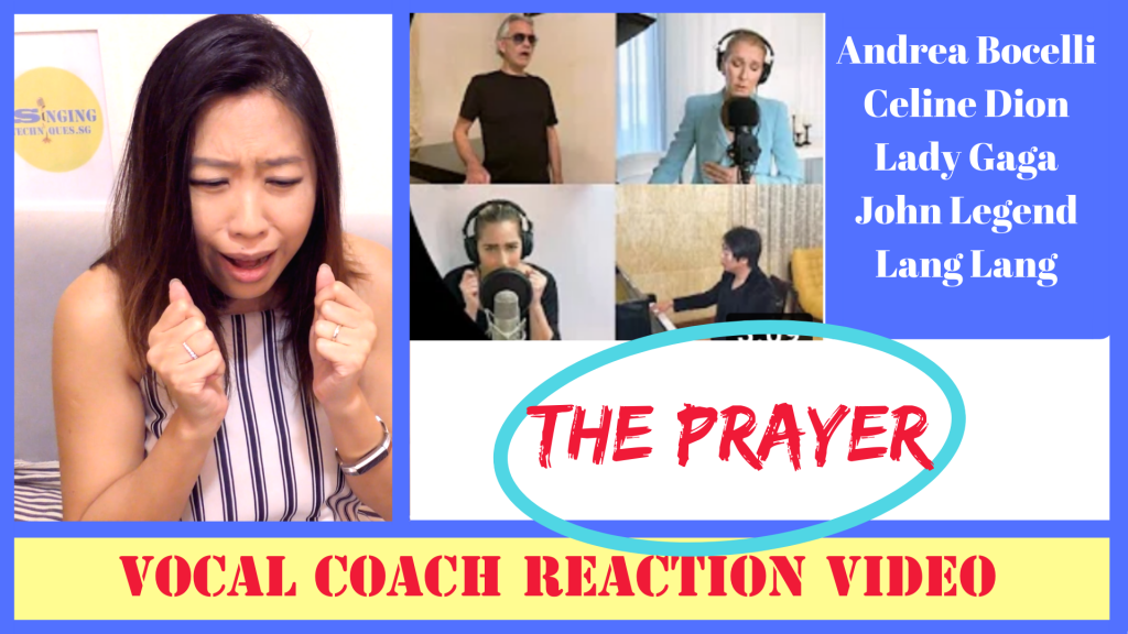 Reaction video The Prayer Lady Gaga Celine Dion Andrea Bocelli John Legend Lang Lang